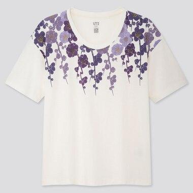 Women The Tale Of Genji Ut (Short-Sleeve Graphic T-Shirt), Off White, Medium