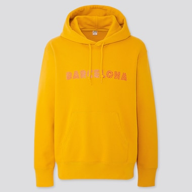 CITY STORIES LONG-SLEEVE HOODED SWEATSHIRT, YELLOW, medium