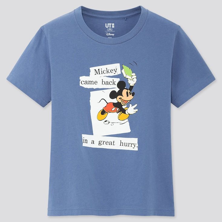 Kids Disney Stories Ut (Short-Sleeve Graphic T-Shirt), Blue, Large