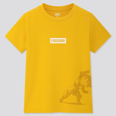 KIDS DRAGON BALL UT (SHORT-SLEEVE GRAPHIC T-SHIRT), YELLOW, medium