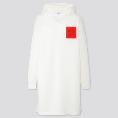 Women Disney Stories Hooded Sweat Dress, Off White, Medium