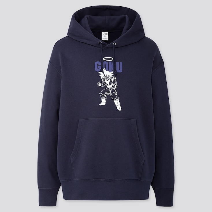 Dragon Ball Long-Sleeve Hooded Sweatshirt, Navy, Large