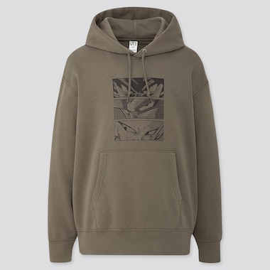 Dragon Ball Kosuke Kawamura Long-Sleeve Hooded Sweatshirt, Olive, Medium