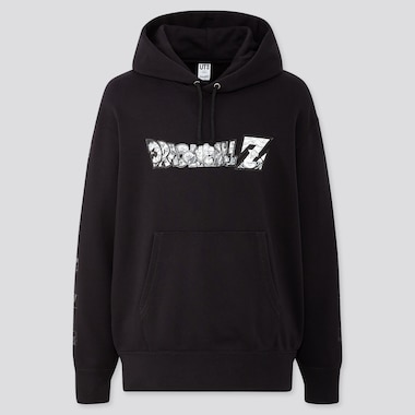 Dragon Ball Kosuke Kawamura Long-Sleeve Hooded Sweatshirt, Black, Medium