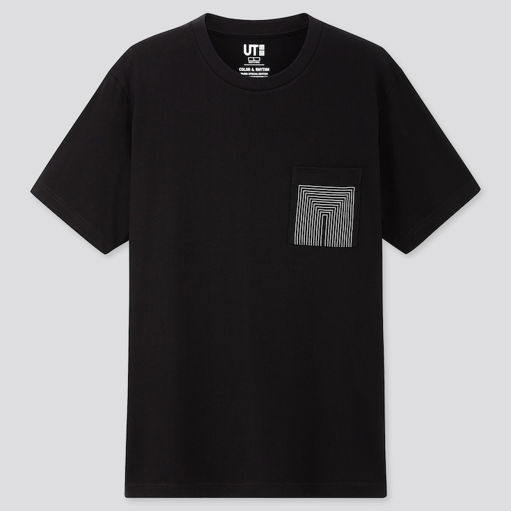 COLOR AND RHYTHM UT LYGIA PAPE (SHORT-SLEEVE GRAPHIC T-SHIRT), BLACK, large
