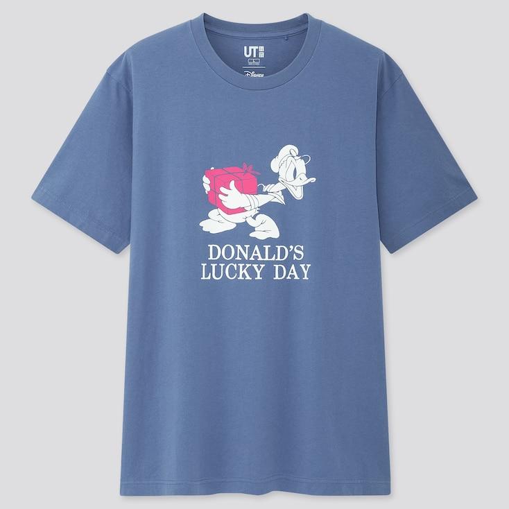 Disney Stories Ut (Short-Sleeve Graphic T-Shirt), Blue, Large