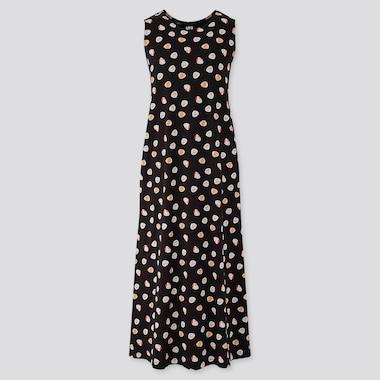 Women The Tale Of Genji Sleeveless Dress, Black, Medium