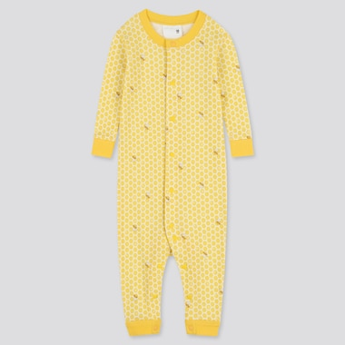 Newborn Long-Sleeve One-Piece Outfit, Yellow, Medium