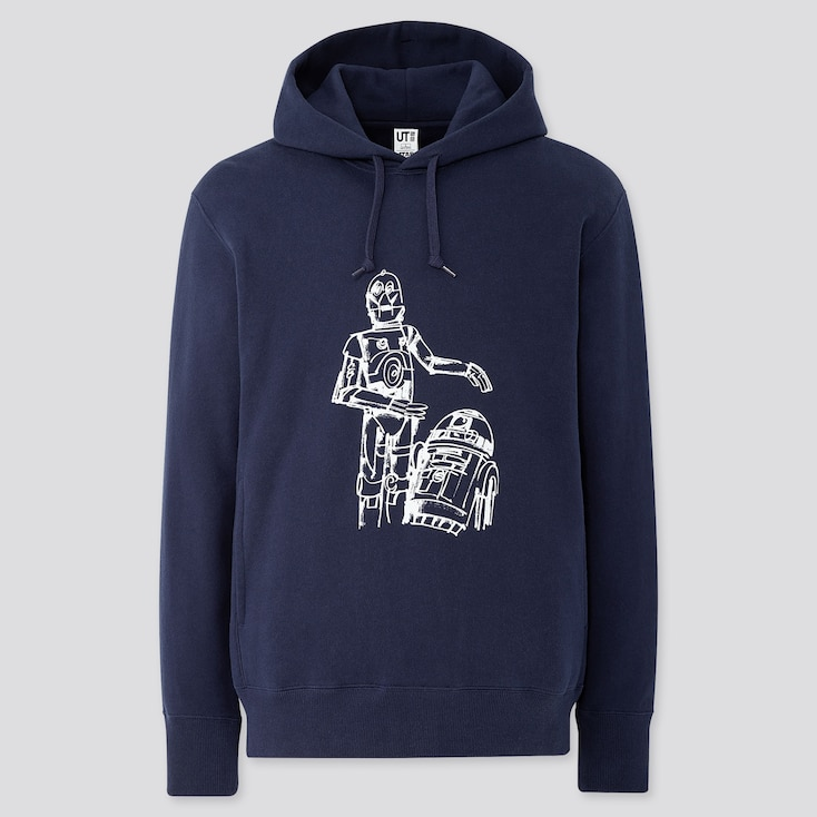 Star Wars Forever James Jarvis Long-Sleeve Hooded Sweatshirt, Navy, Large
