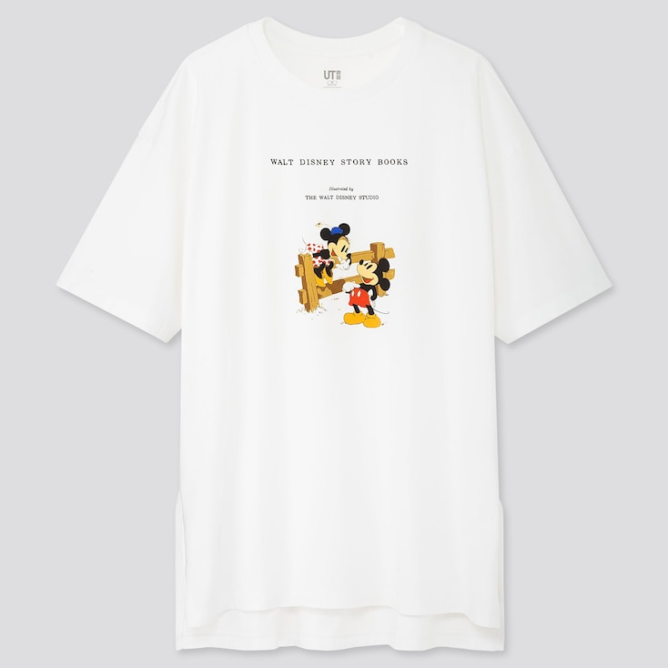 Women Disney Stories Ut (Short-Sleeve Oversized T-Shirt), White, Large