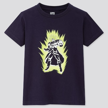 KIDS DRAGON BALL UT (SHORT-SLEEVE GRAPHIC T-SHIRT), NAVY, medium