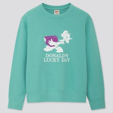 Kids Disney Stories Long-Sleeve Sweatshirt, Green, Medium