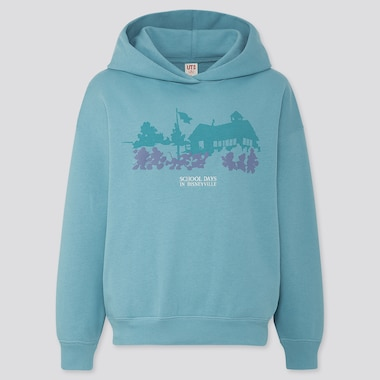 Women Disney Stories Long-Sleeve Hooded Sweatshirt, Blue, Medium