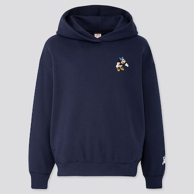 Women Disney Stories Long-Sleeve Hooded Sweatshirt, Navy, Medium