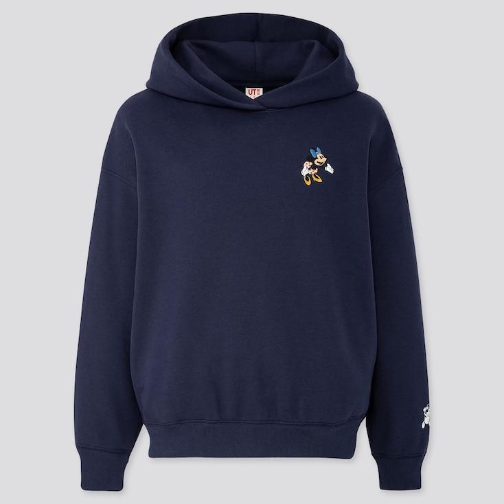 Women Disney Stories Long-Sleeve Hooded Sweatshirt, Navy, Large