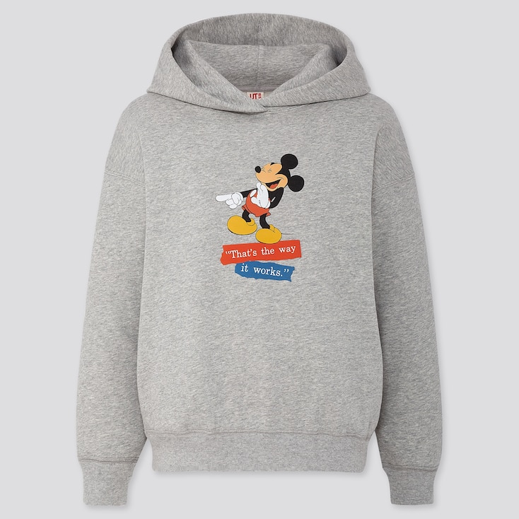 Women Disney Stories Long-Sleeve Hooded Sweatshirt, Gray, Large