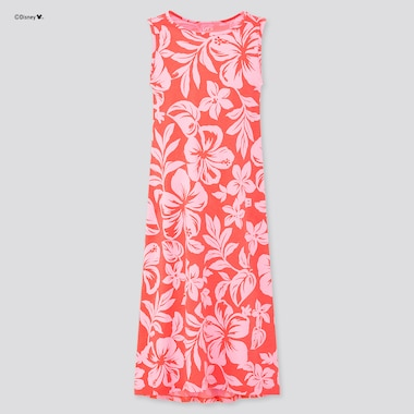 Girls Mickey Aloha Sleeveless Dress, Pink, Medium
