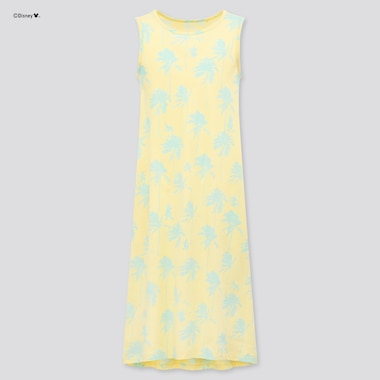 Girls Mickey Aloha Sleeveless Dress, Yellow, Medium
