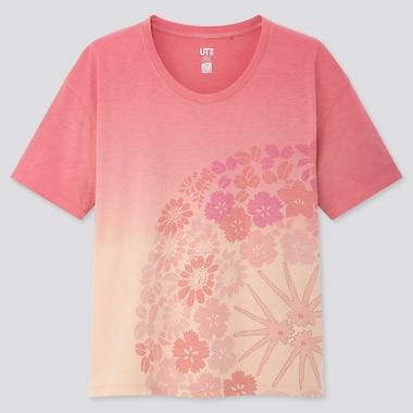 Women The Tale Of Genji Ut (Short-Sleeve Graphic T-Shirt), Pink, Medium