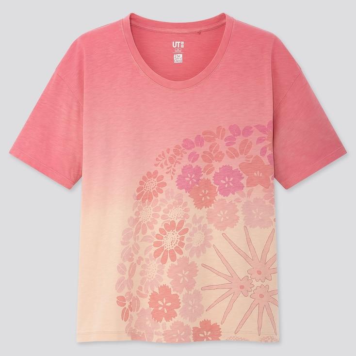 Women The Tale Of Genji Ut (Short-Sleeve Graphic T-Shirt), Pink, Large