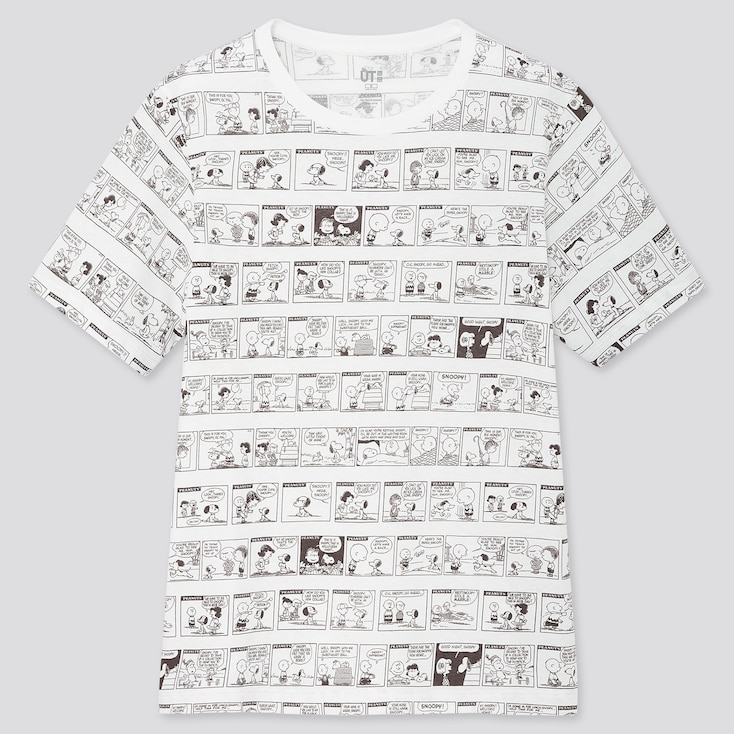 Women Peanuts 70 Ut (Short-Sleeve Graphic T-Shirt), White, Large