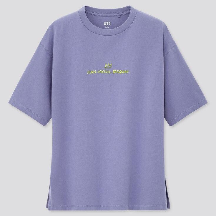 Women Crossing Lines Ut Jean-Michel Basquiat (Short-Sleeve Graphic T-Shirt), Purple, Large