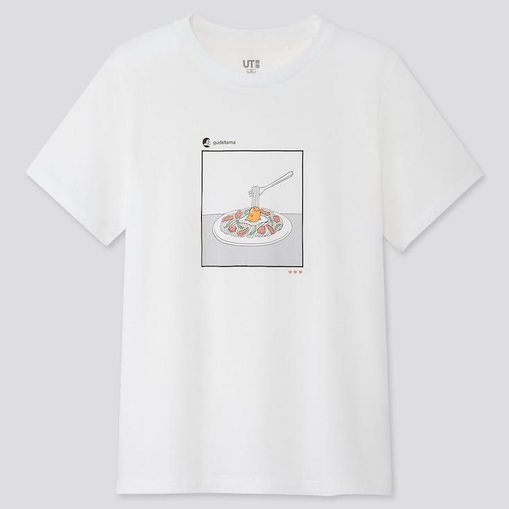 Women Gudelicious Ut (Short-Sleeve Graphic T-Shirt), White, Large