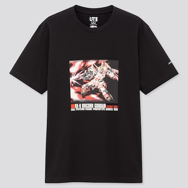 Gunpla 40th Ut (Short-Sleeve Graphic T-Shirt), Black, Medium