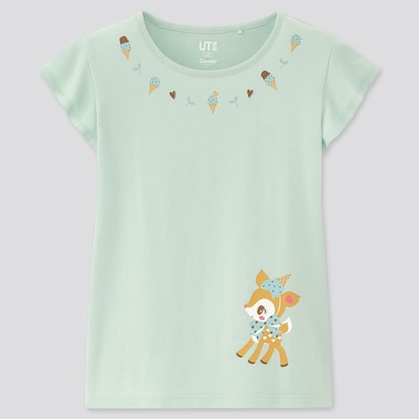 Girls Sanrio Characters Ut (Short-Sleeve Graphic T-Shirt), Green, Medium