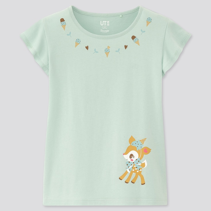 Girls Sanrio Characters Ut (Short-Sleeve Graphic T-Shirt), Green, Large