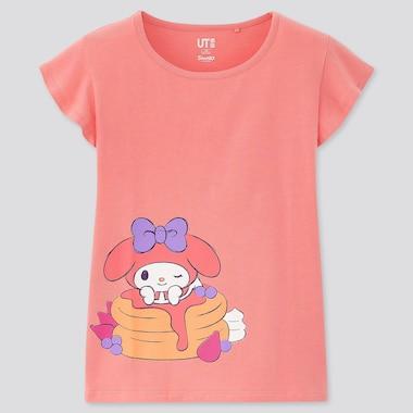 Girls Sanrio Characters Ut (Short-Sleeve Graphic T-Shirt), Pink, Medium