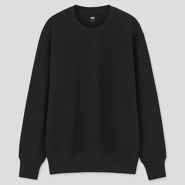 Long-Sleeve Sweatshirt, Black, Medium