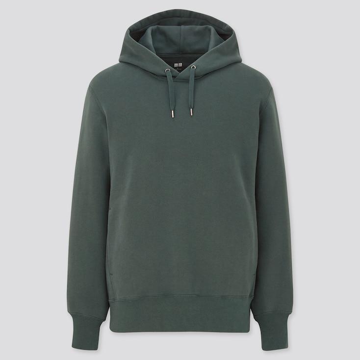 Long-Sleeve Hooded Sweatshirt, Green, Large