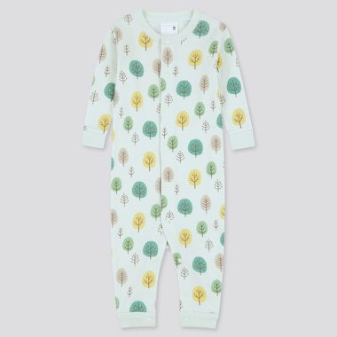 Newborn Long-Sleeve One Piece Outfit, Light Green, Medium