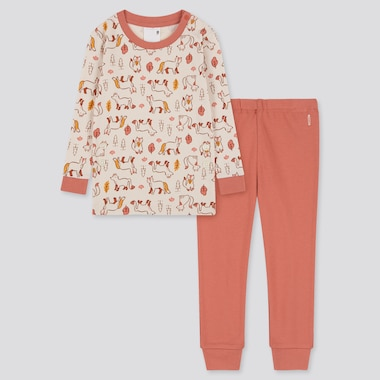 Toddler Joy Of Print Long-Sleeve Pajamas, Natural, Medium