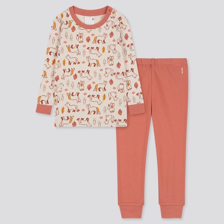 Toddler Joy Of Print Long-Sleeve Pajamas, Natural, Large