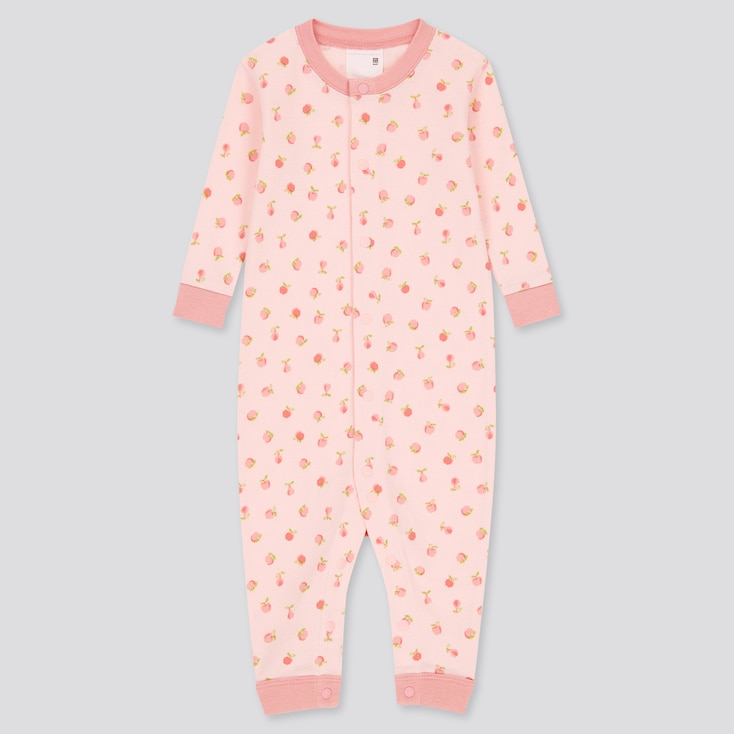 Newborn Joy Of Print Long-Sleeve One-Piece Outfit, Pink, Large