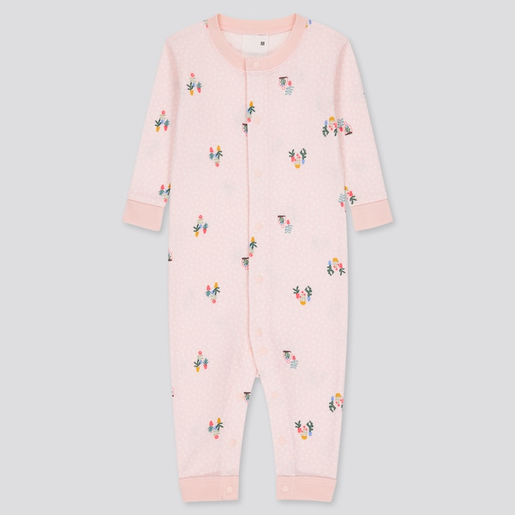 Baby Joy Of Print Long-Sleeve One-Piece Outfit, Pink, Large