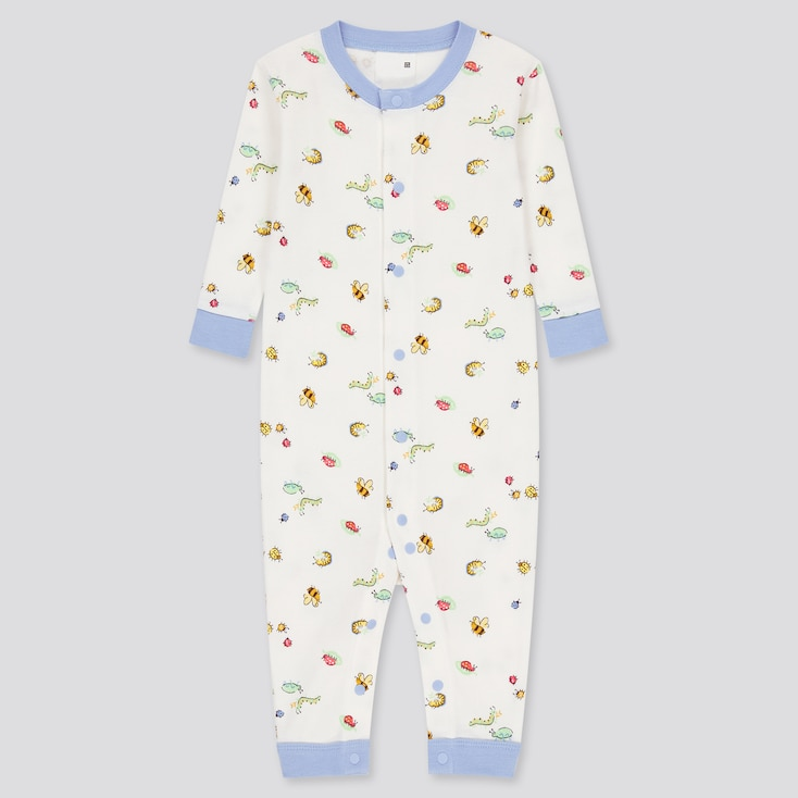 Newborn Joy Of Print One-Piece Long-Sleeve Outfit, White, Large