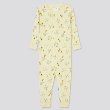 Newborn Joy Of Print Long-Sleeve One-Piece Outfit, Yellow, Medium