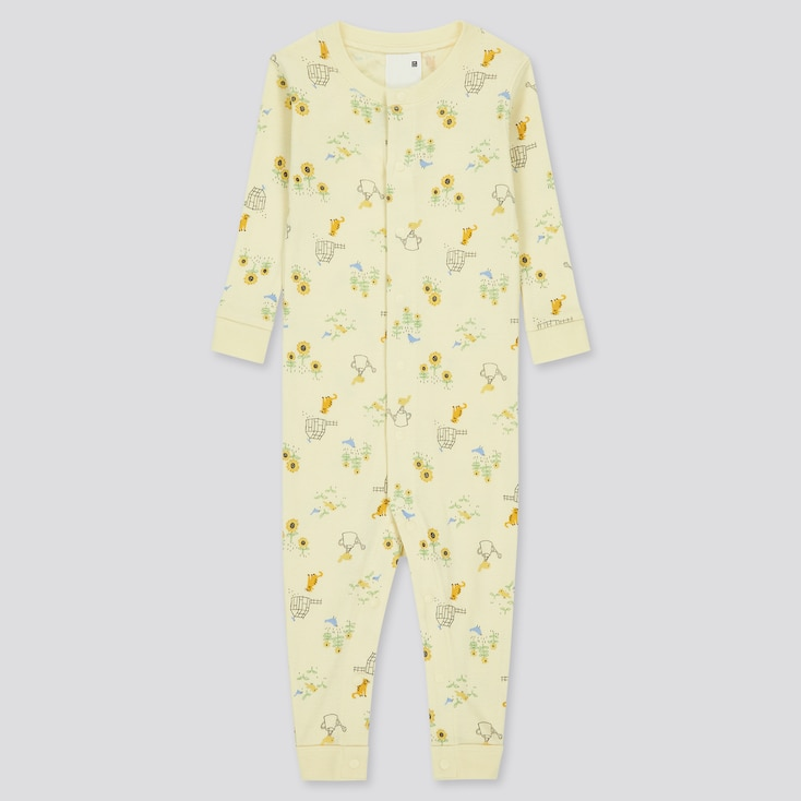 Newborn Joy Of Print Long-Sleeve One-Piece Outfit, Yellow, Large