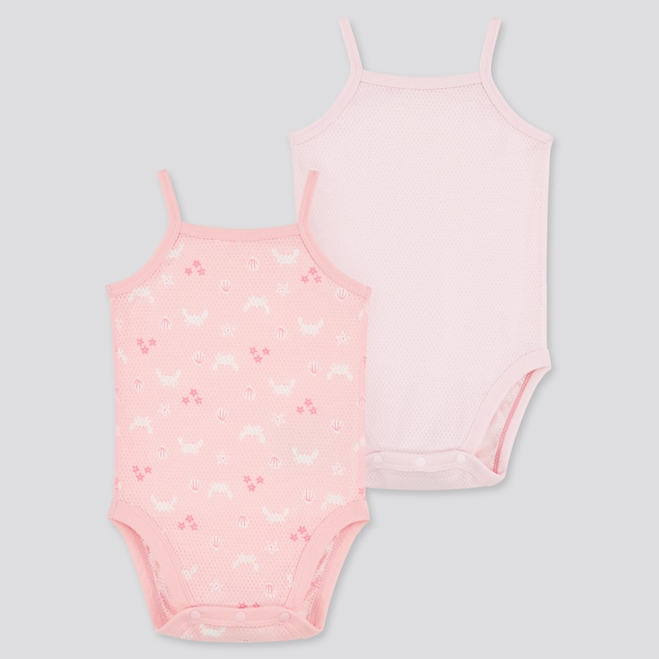 Newborn Joy Of Print Camisole Bodysuit (Set Of 2) (Online Exclusive), Pink, Large