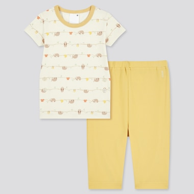 Toddler Dry Short-Sleeve Pajamas (Online Exclusive), Yellow, Medium
