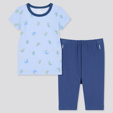 Toddler Dry Short-Sleeve Pajamas (Online Exclusive), Light Blue, Medium