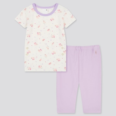 Toddler Dry Short-Sleeve Pajamas, Light Purple, Medium