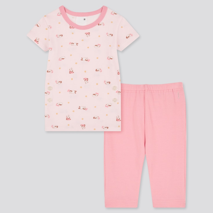 Toddler Dry Short-Sleeve Pajamas (Online Exclusive), Pink, Large