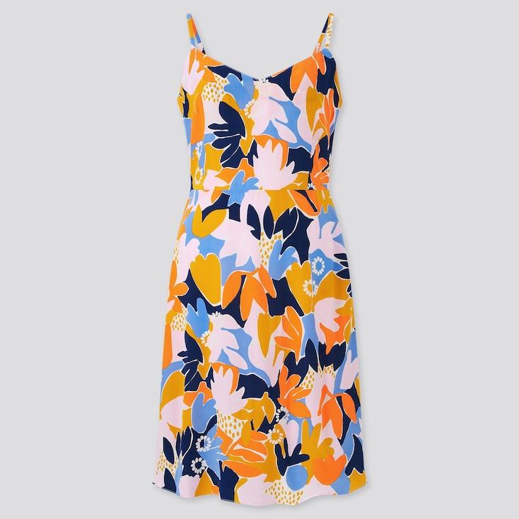 Women Cassie Byrnes Camisole Dress, Orange, Large