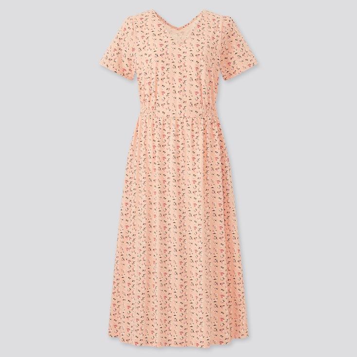 Women Paul & Joe Jersey Short Sleeve Dress, Pink, Large