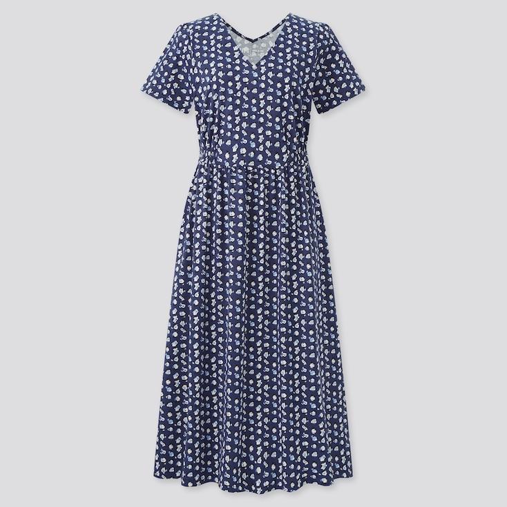 Women Paul & Joe Jersey Short Sleeve Dress, Navy, Large