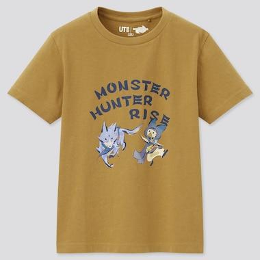 Kids Monster Hunter Rise Ut (Short-Sleeve Graphic T-Shirt), Khaki, Medium